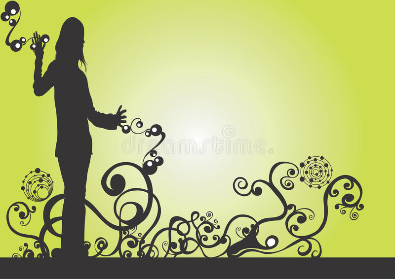 Silhueta fêmea ilustração royalty free