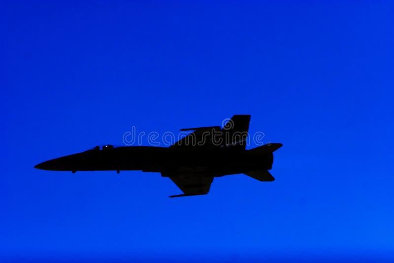 Silhueta F-18 fotografia de stock royalty free