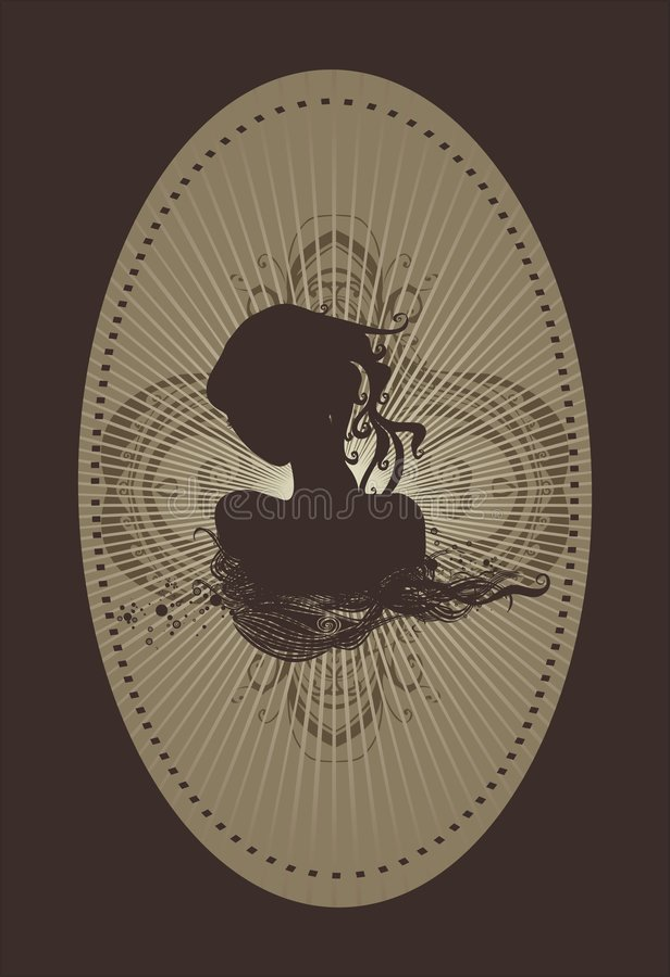 Silhueta feminino ilustração stock