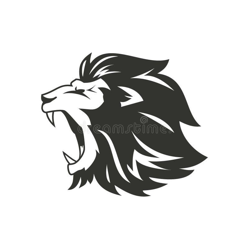 Silhueta heráldica do leão ilustração royalty free