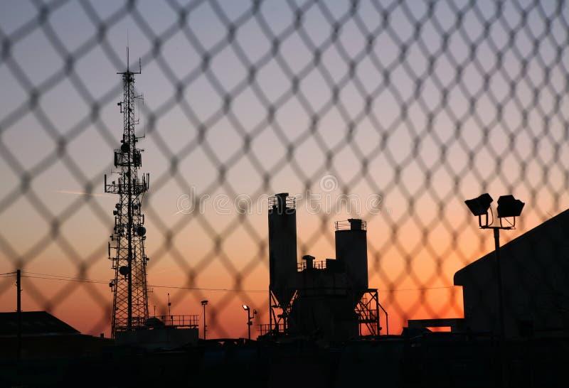 Silhueta industrial imagem de stock