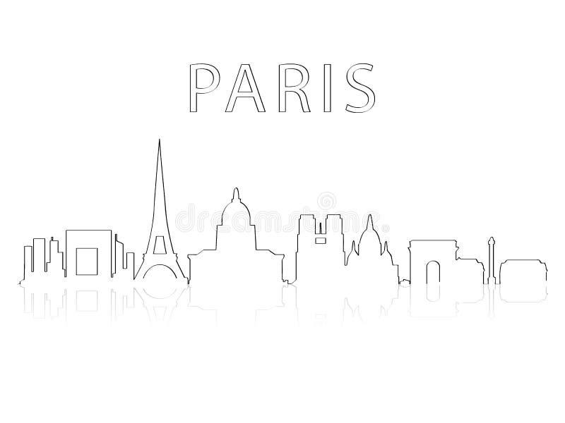 Silhueta Paris da cidade ilustração stock
