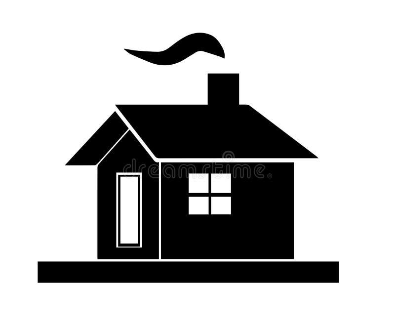 Silhueta preta da casa ilustração do vetor