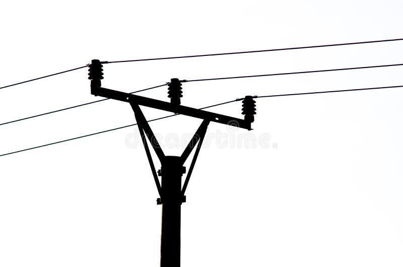 Silhueta preta da linha elétrica ilustração royalty free