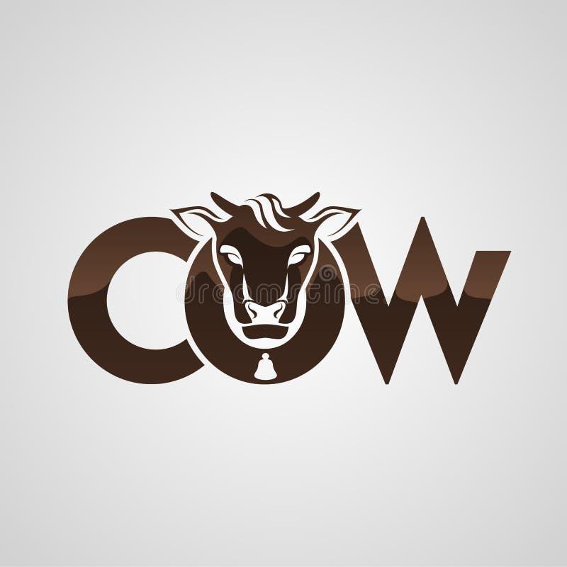 Silhueta principal da vaca imagens de stock
