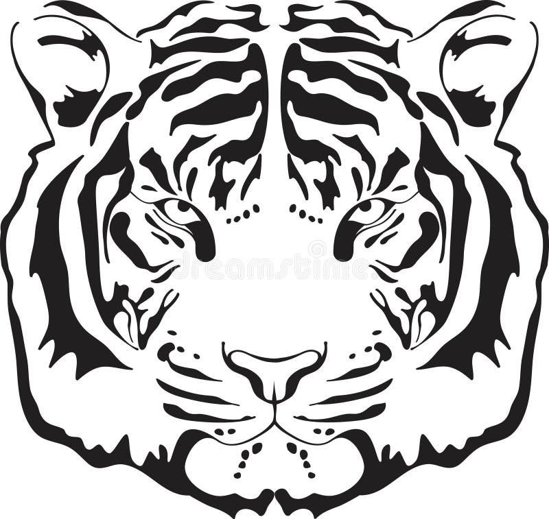 Silhueta principal do tigre. ilustração royalty free