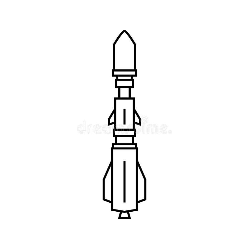 Silhueta Rocket militar ilustração royalty free