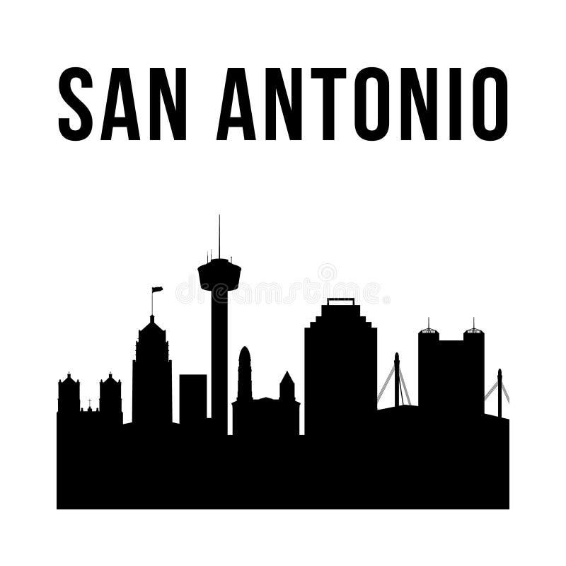 Silhueta simples da cidade de San Antonio ilustração do vetor
