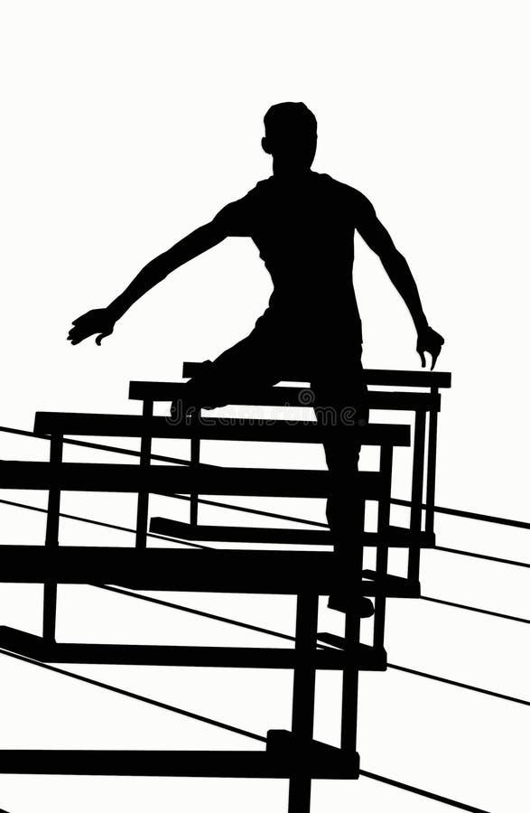 Silhuetas - 400 obstáculos ilustração royalty free