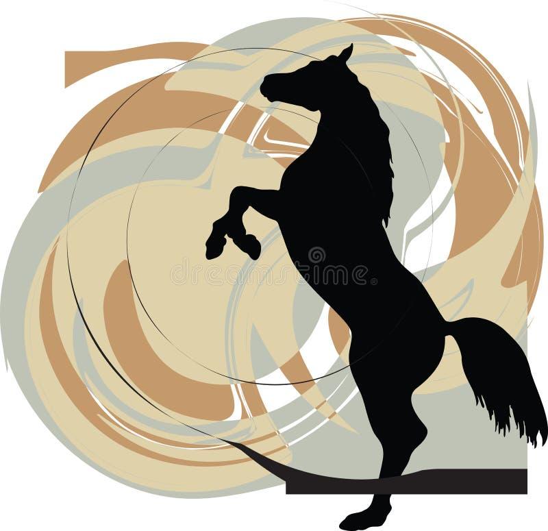 Silhuetas abstratas dos cavalos. ilustração do vetor