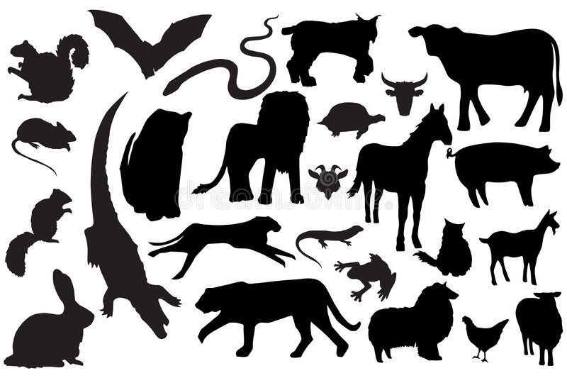 Silhuetas animais