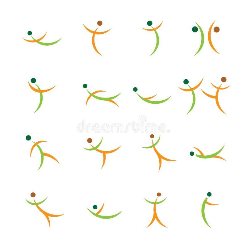 Silhuetas ativas abstratas ilustração stock