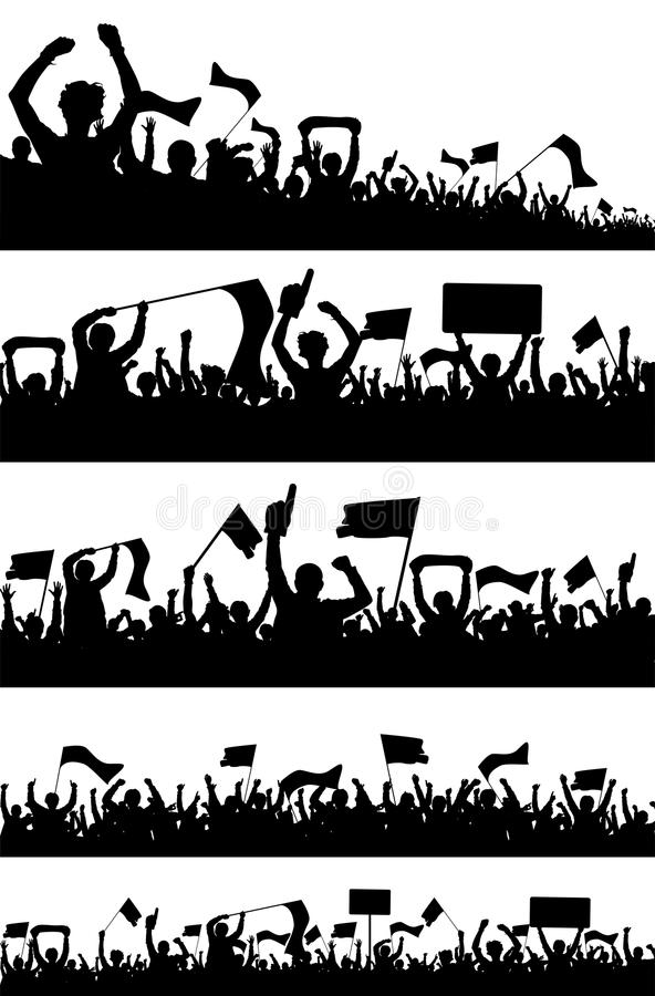 Silhuetas da audiência ilustração do vetor