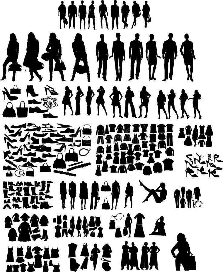 Silhuetas da forma ilustração stock