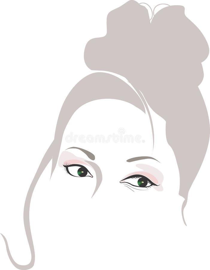 Silhuetas da senhora ilustração royalty free