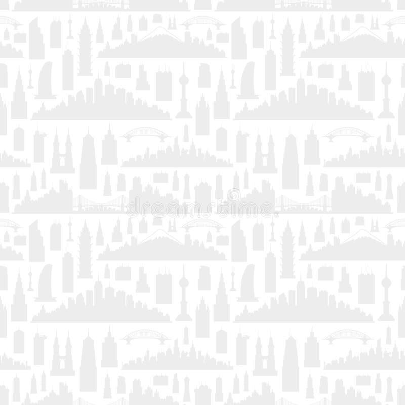 Silhuetas das cidades ilustração do vetor