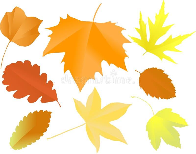 Silhuetas das folhas ilustração stock