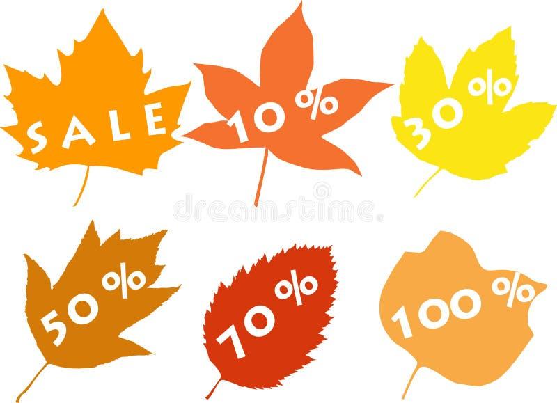Silhuetas das folhas, venda ilustração do vetor