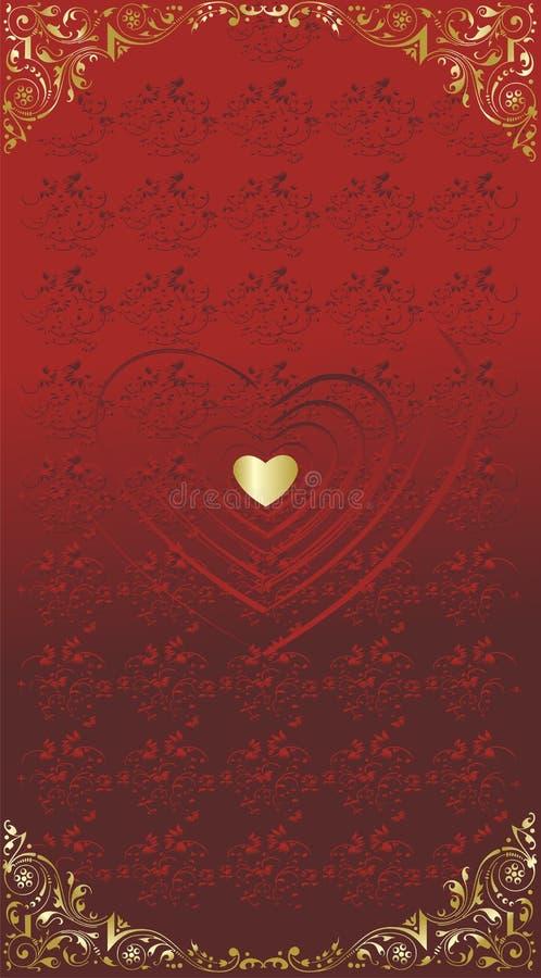 Silhuetas do coração ilustração do vetor