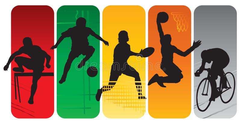 Silhuetas do esporte ilustração royalty free