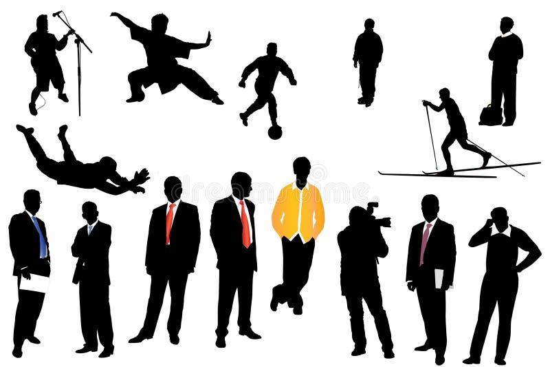 Download Silhuetas do homem ilustração stock. Ilustração de fundo - 16861351
