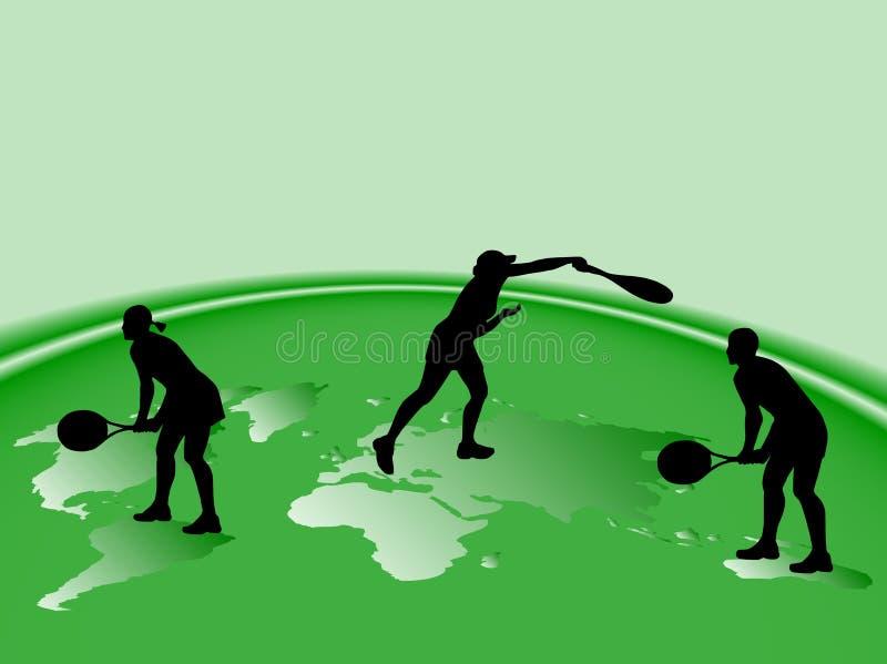 Silhuetas do tênis ilustração stock