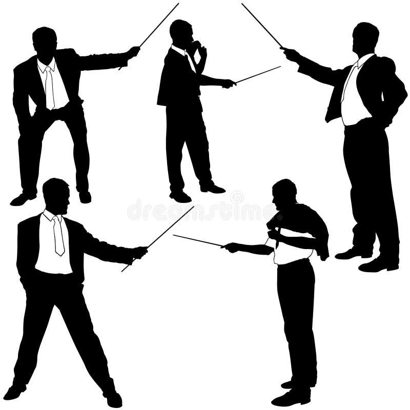Silhuetas Job-related do treinamento ilustração royalty free