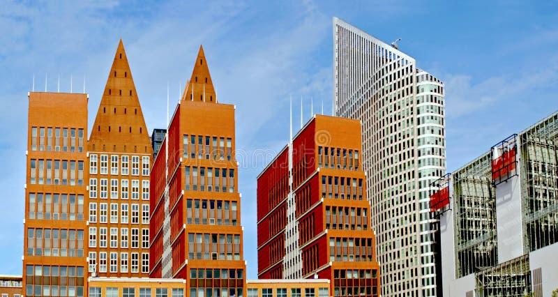 Silhuetas modernas Haia. Os Países Baixos foto de stock royalty free