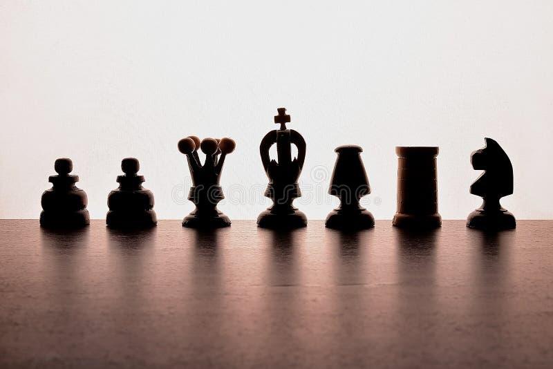 Silhuette-Schach stockbild
