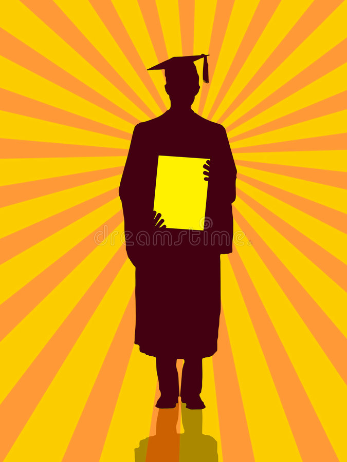 Download Silhutte graduation stock illustration. Illustration of person - 9109232