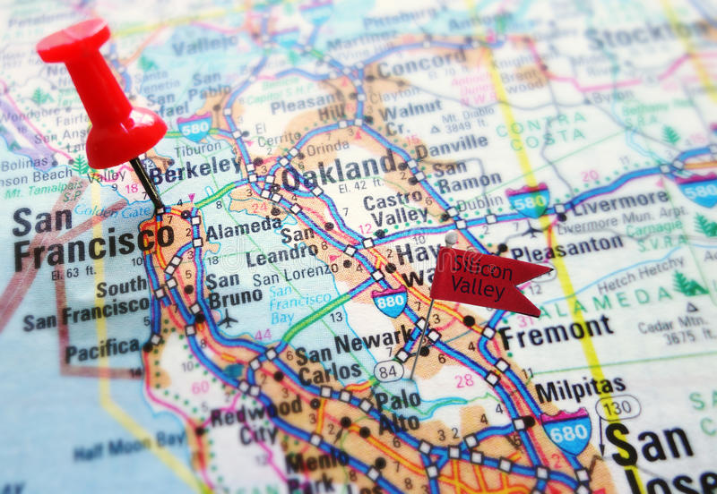 Silicon Valley stockbild