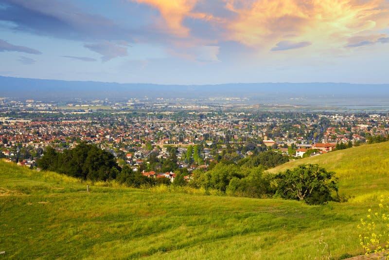 Silicon Valley im Sonnenaufgang lizenzfreie stockbilder