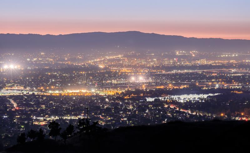 Silicon Valley-Lichten royalty-vrije stock foto's