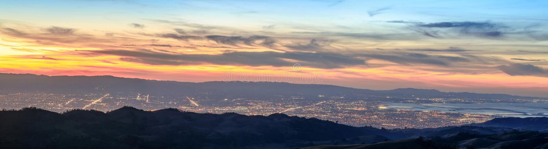 Silicon Valley-Panorama royalty-vrije stock afbeeldingen