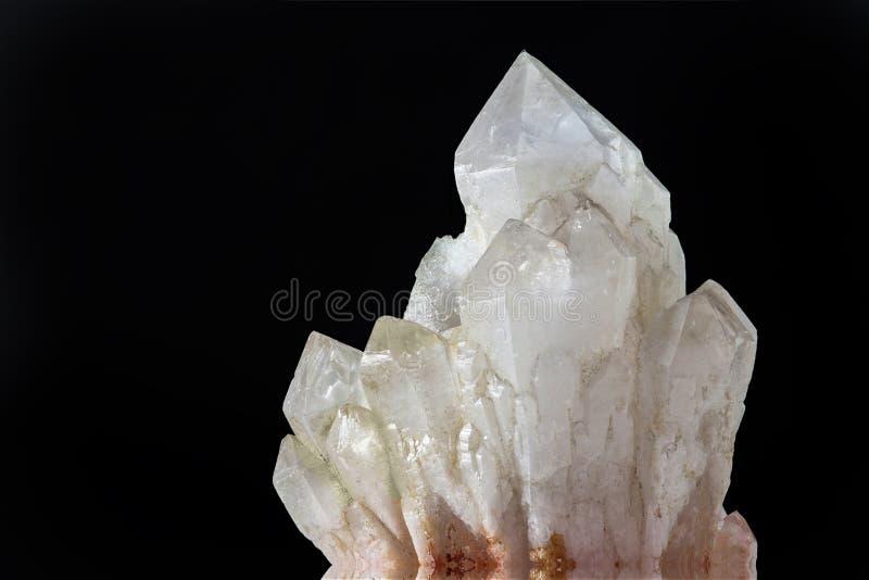 Silicone do cristal de quartzo e oxig?nio SiO4 foto de stock