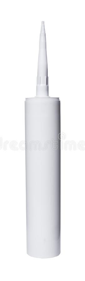 Silicone tube closeup. On white isolated background stock image