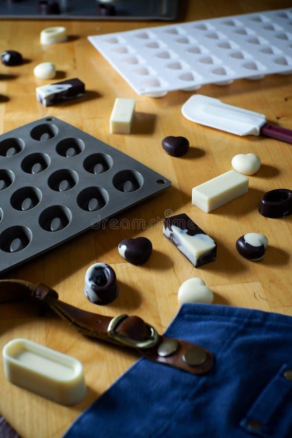 Siliconevorm voor het maken van chocoladevorm royalty-vrije stock foto