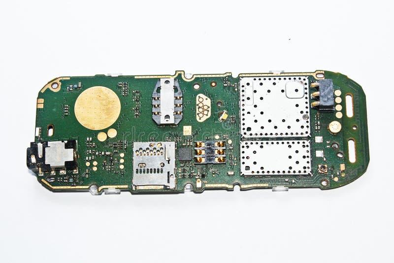 Silikonbräde Av En Mobiltelefon Royaltyfria Foton