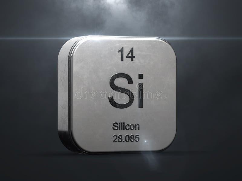 Silikonelement vom Periodensystem stock abbildung