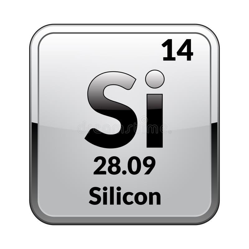 Silikonerna för beståndsdel för periodisk tabell vektor stock illustrationer