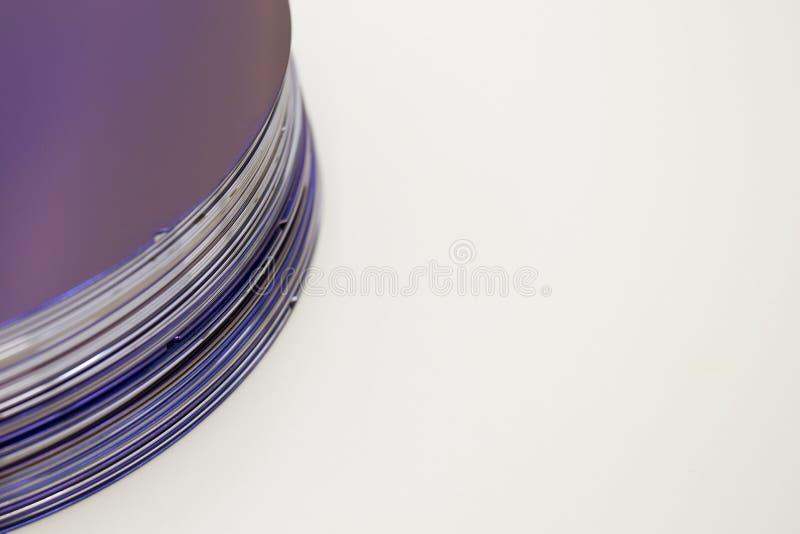Silikonowi opłatki purpura kolor w zapasie obraz stock