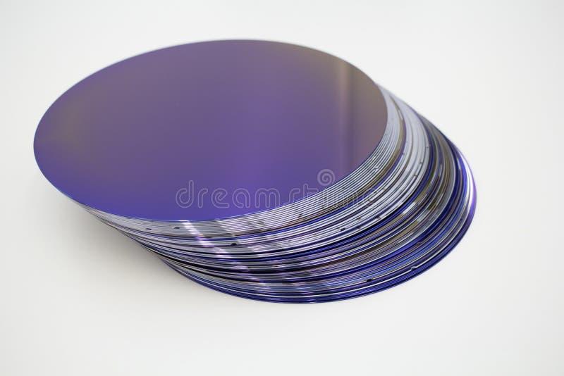 Silikonowi op?atki purpura kolor w zapasie zdjęcia stock