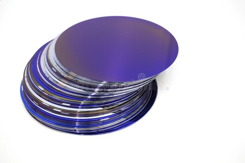 Silikonowi op?atki purpura kolor w zapasie obraz stock