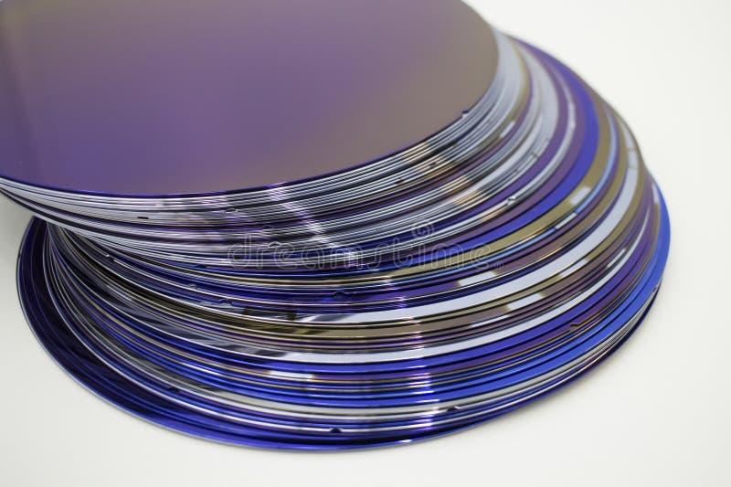 Silikonowi op?atki purpura kolor w zapasie fotografia stock