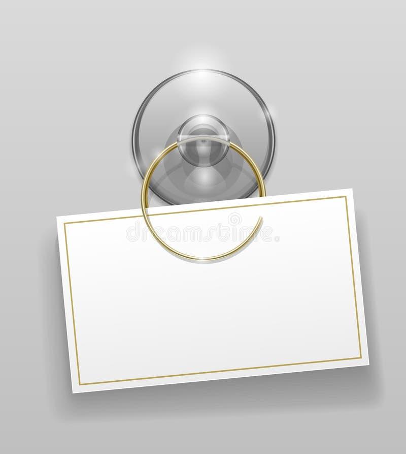 Silikonsaugcup mit Abzeichen lizenzfreie abbildung