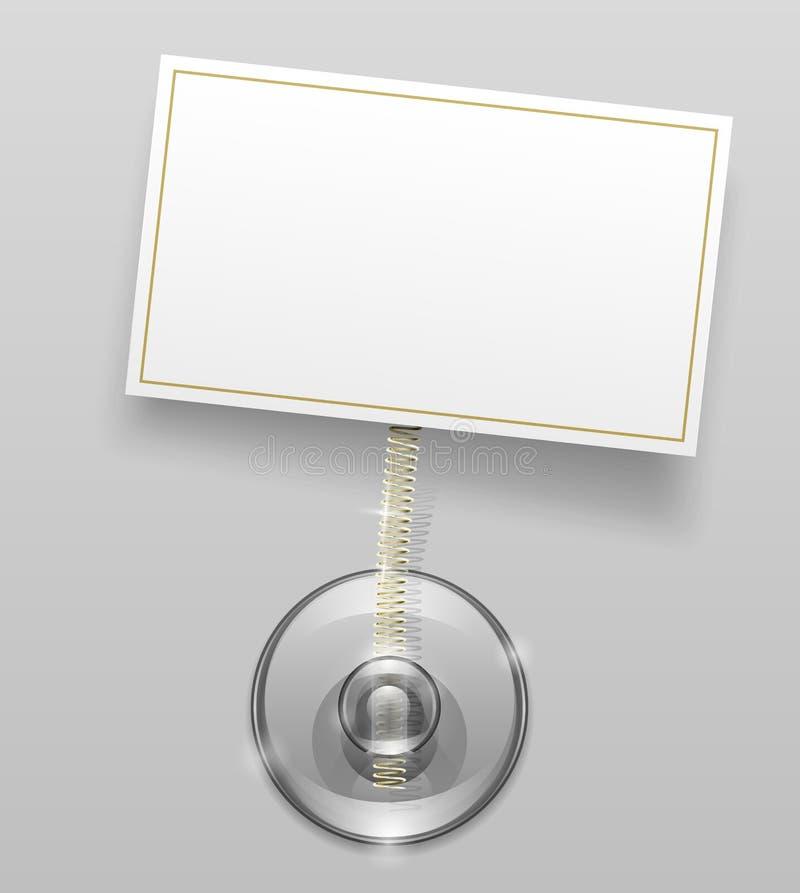 Silikonsaugcup mit Abzeichen vektor abbildung