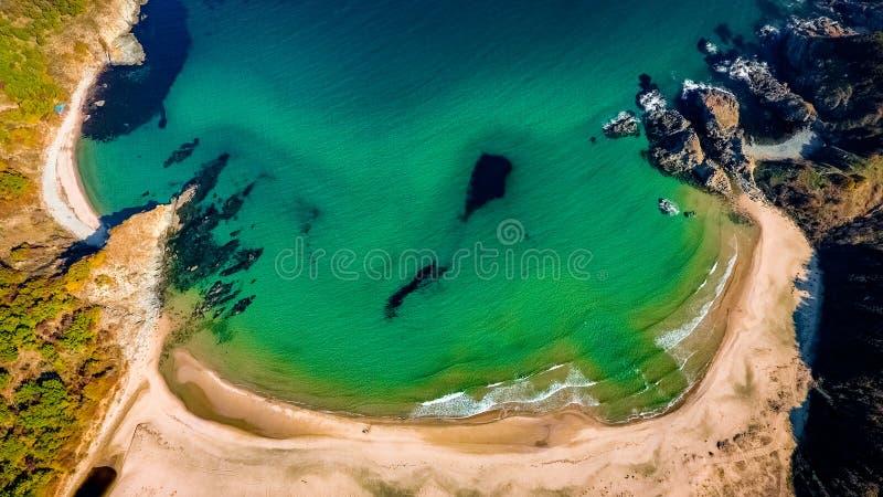Silistar strand, Sinemorets, Bulgarien, Black Sea fotografering för bildbyråer