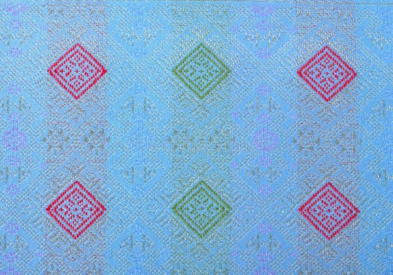 Silk ткань в тайской картине для предпосылки стоковые фотографии rf