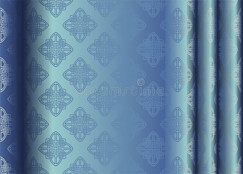 Silk. Vector illustration of blue silk with abstract pattern vector illustration