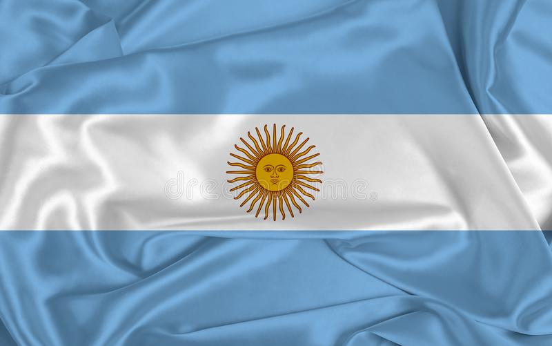 Silk Argentina Flag royalty-vrije stock afbeelding